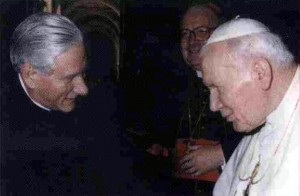 Corsanego con Juan Pablo II