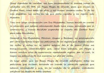 Cartero Real 2020 – SUSPENDIDO